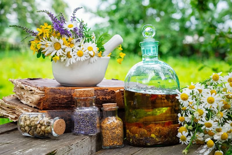 bigstock mortar of healing herbs bottl 277112125 2